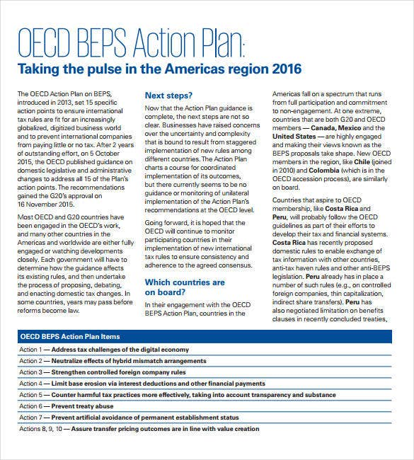 beps action plan sample example format1