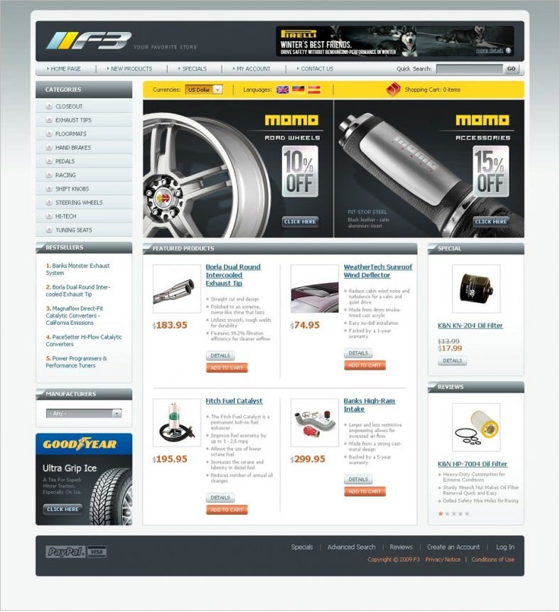 best auto parts oscommerce template 139 788x861