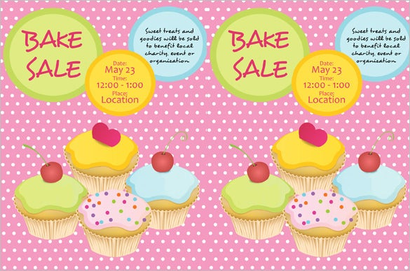 best bake sale flyer template download