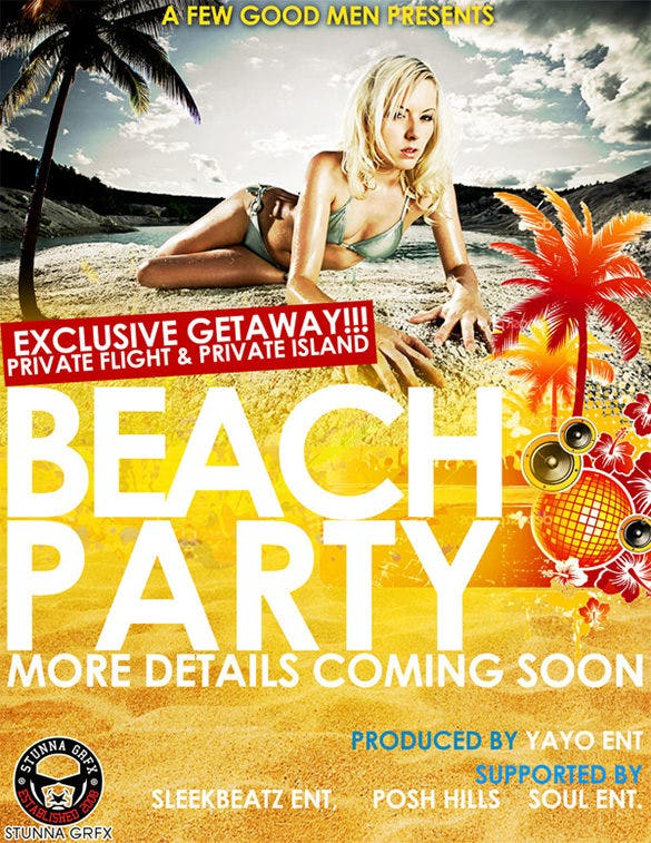 best beach flyer template download