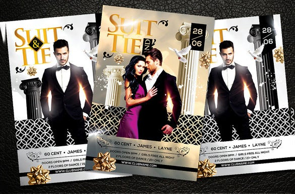 best black and white psd flyer template 71