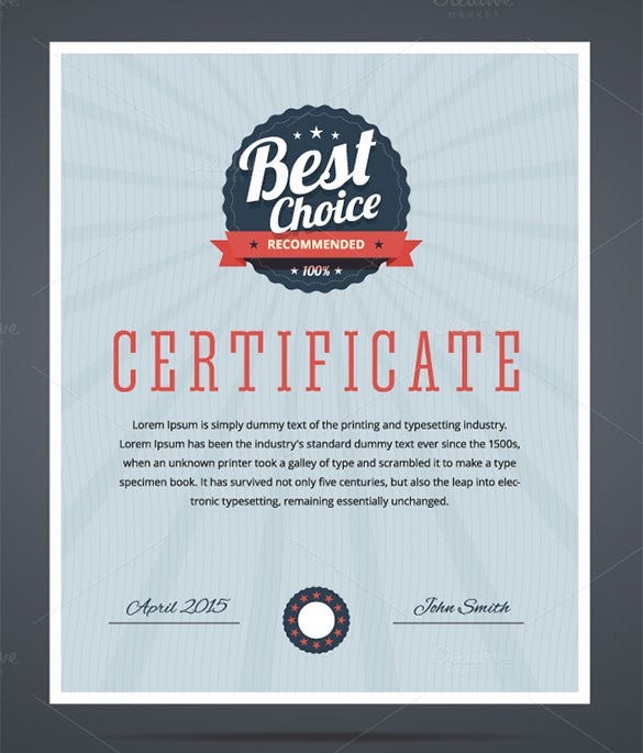34 fabulous achievement certificate templates designs free premium templates for Fabulous achievement