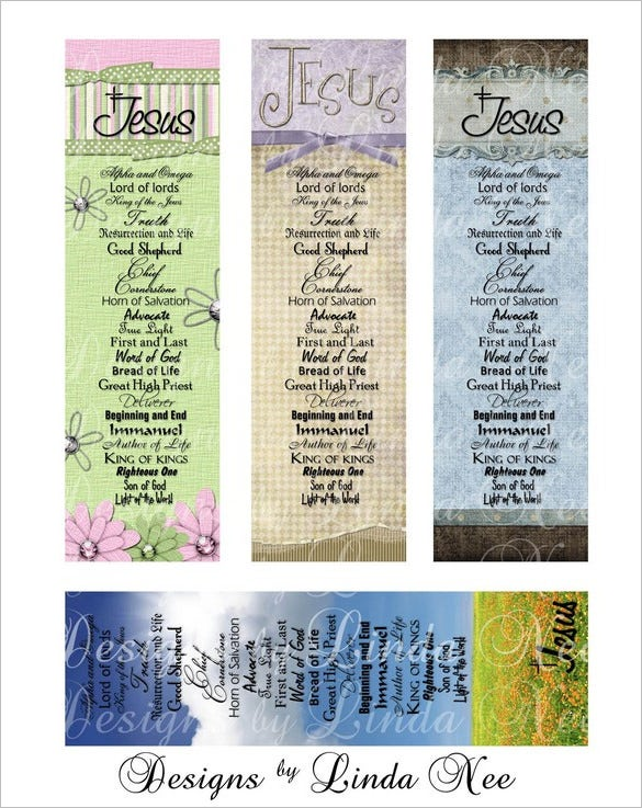 best christian bookmarks template design