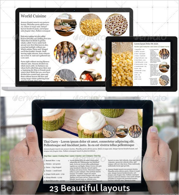 best design cookbook template