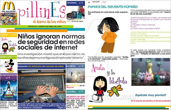 design format newspaper template for kids download