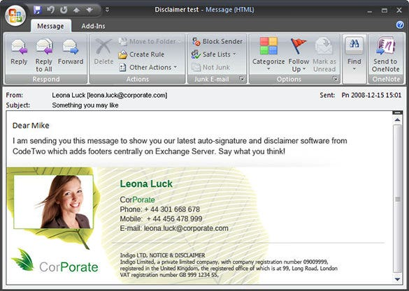 outlook 2007 email templates