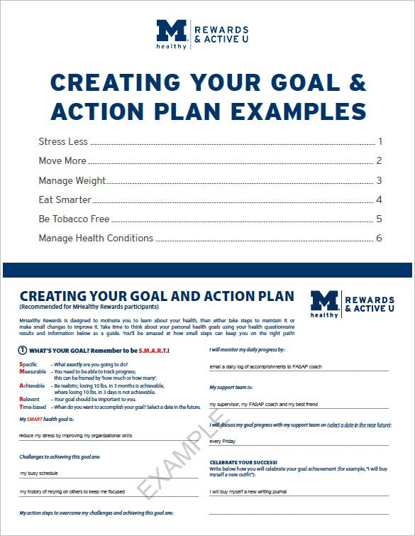 Action Plan Template 109 Free Word Excel PDF Documents – Daily Action Plan Template