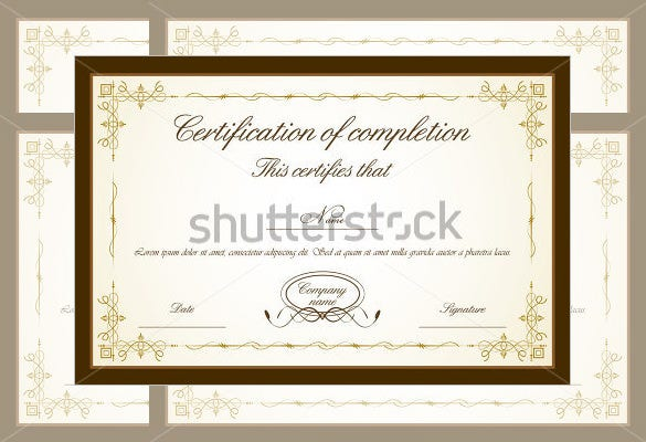 best floral frame appreciation certificate