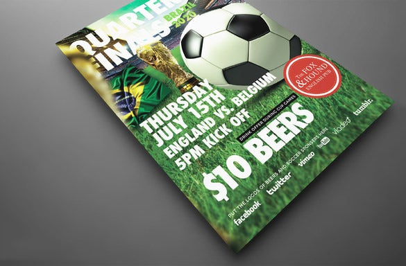 best flyer template for soccer tournament 9