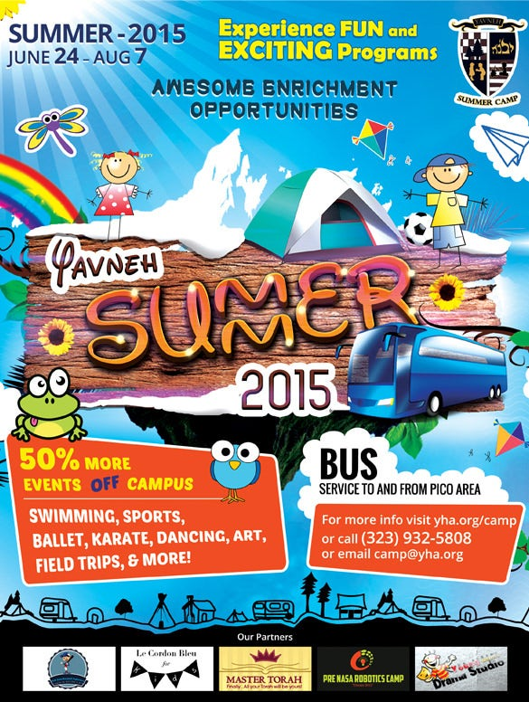 best flyer template for summer camp download