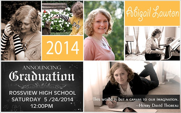 Fantastic Psd Graduation Announcement Templates  Free