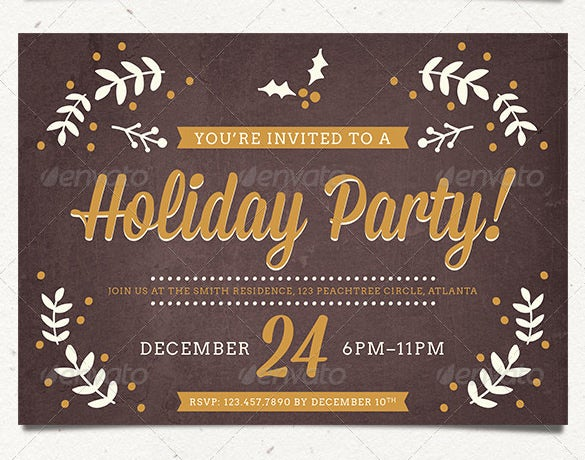 best holiday party card invitation