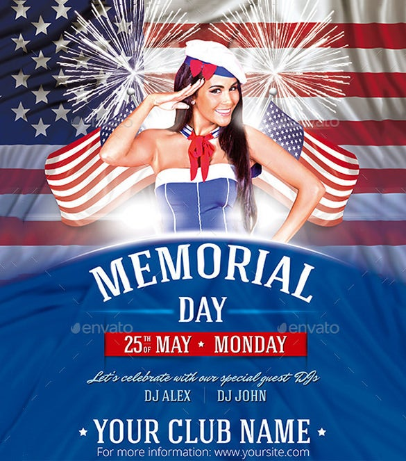 12+ Memorial Day PSD Flyer Templates & Designs! | Free & Premium ...