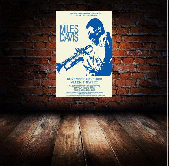 best miles davis 1974 cleveland concert poster template