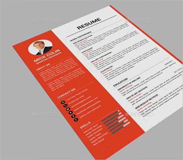 single page resume template sample one page resume format one