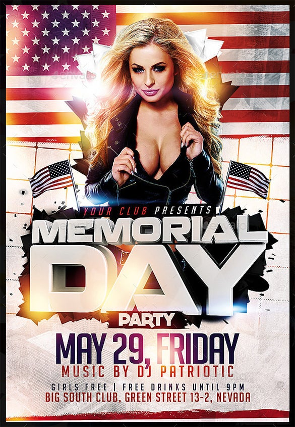 best psd flyer for memorial day 6