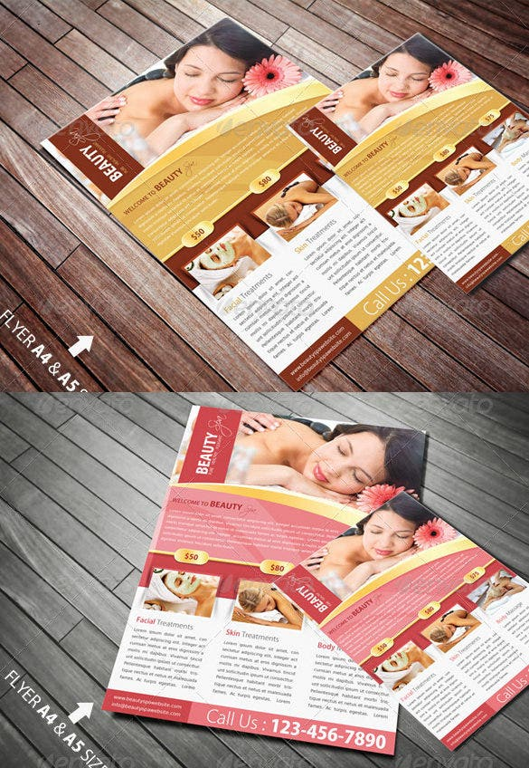 best spa broucher psd template 10