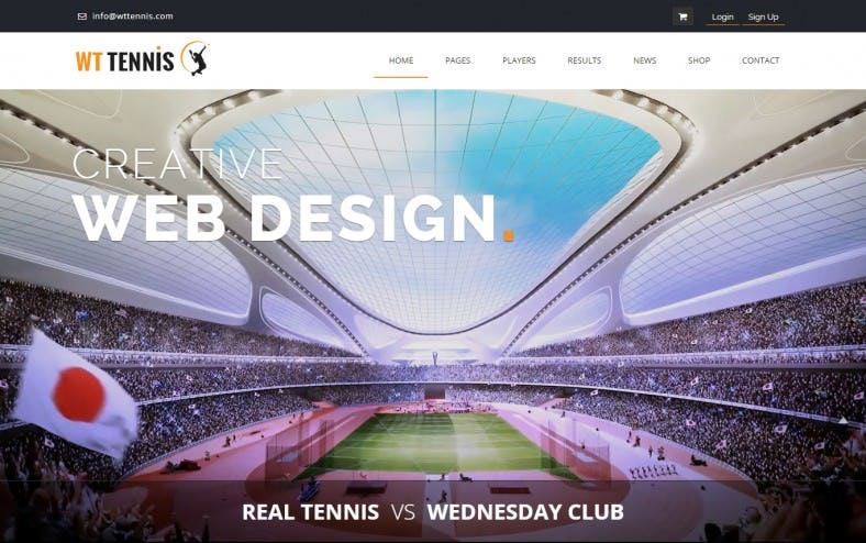 best sport html theme with responsive layout 788x494