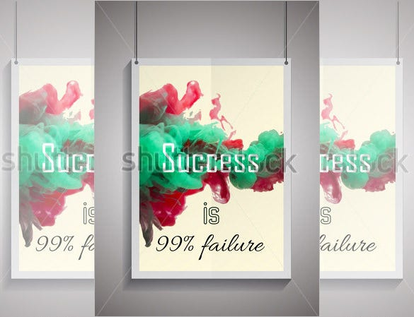 best success poster frame mockup template