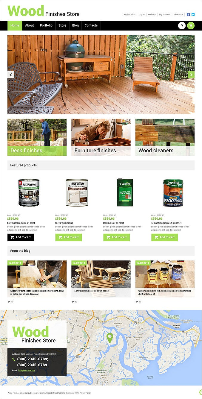 best wood finishes store woocommerce theme1