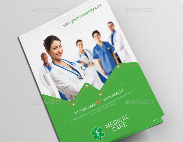 bi fold brochure medical services