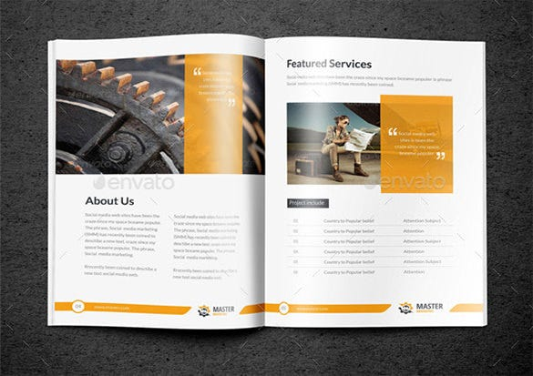 bi fold brochure for master business download - Bi Fold Brochure Template Indesign Free