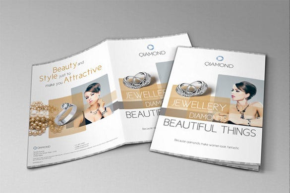 bifold brochure for jewelry and luxury items
