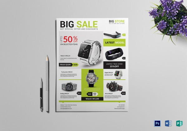 big sale offer flyer template