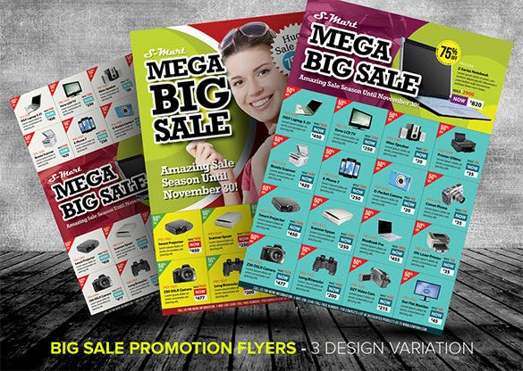 big sale promotion flyer templates
