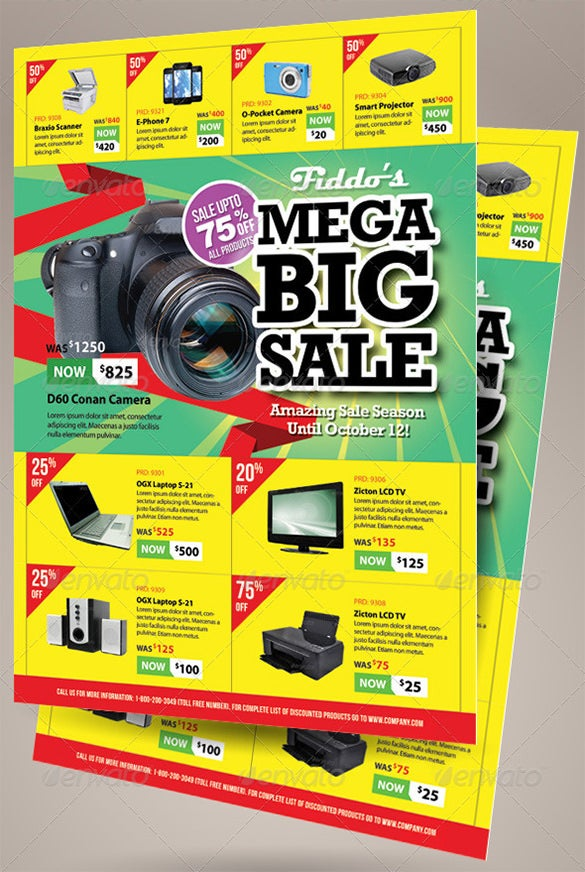 big sale promotion flyers