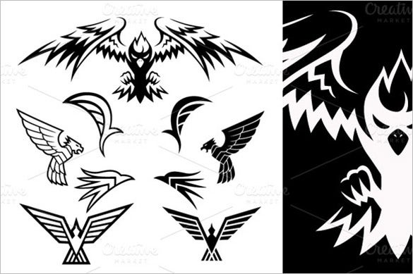 bird symbols tattoo templates 5