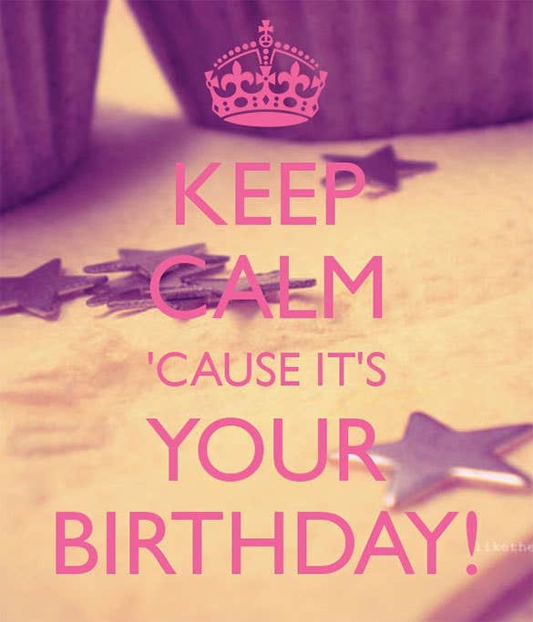 birthday keep calm poster template free