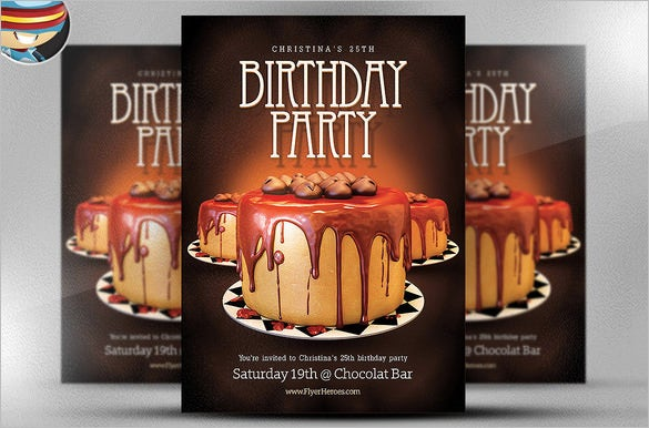 birthday party photoshop flyer template 9