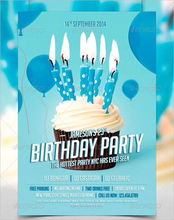birthday party psd flyertemplate download 6