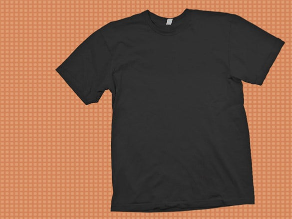 black t shirt template psd