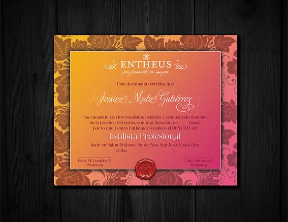 black wooden background diploma certificate template