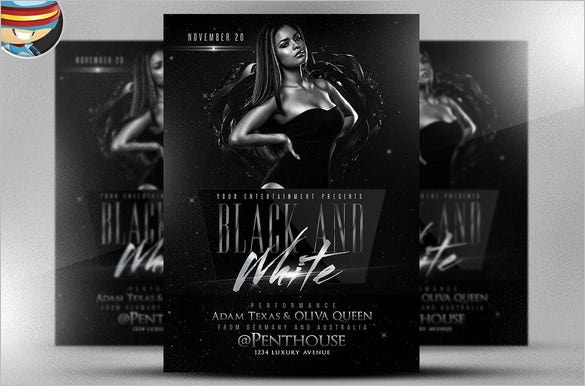 black and white photoshop flyer template 9