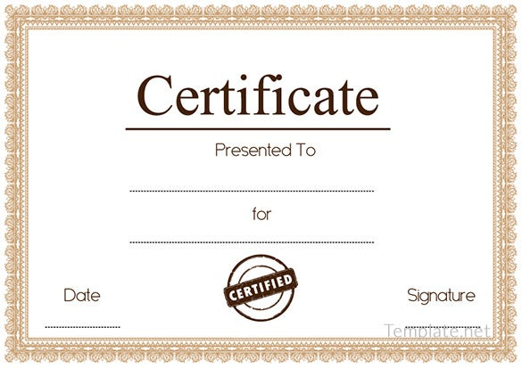 Free Certificate Template 65 Adobe Illustrator Documents – Blank Certificates Template