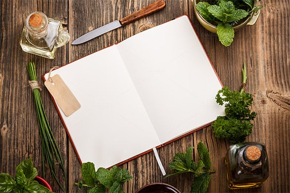 blank cookbook template indesign