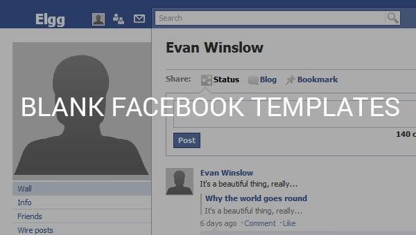 blank facebook