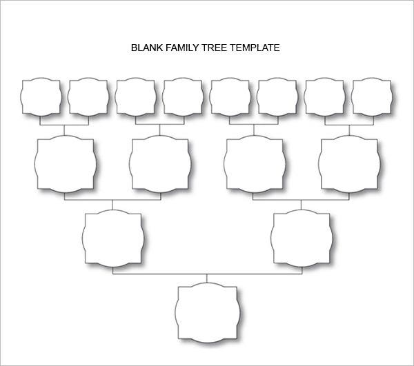 blank family tree chart 6 free excel word documents download