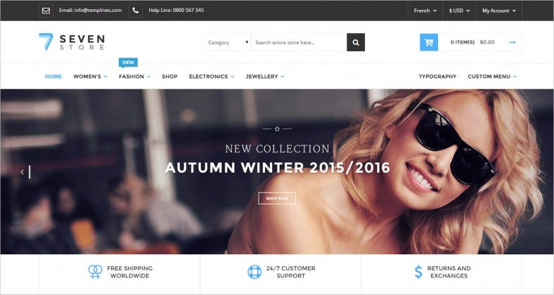 Blog Integrated Responsive Magento Theme