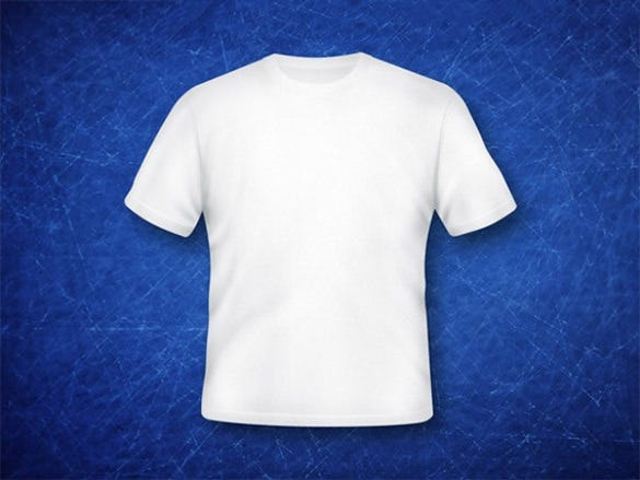 blue colour blank t shirt template free download