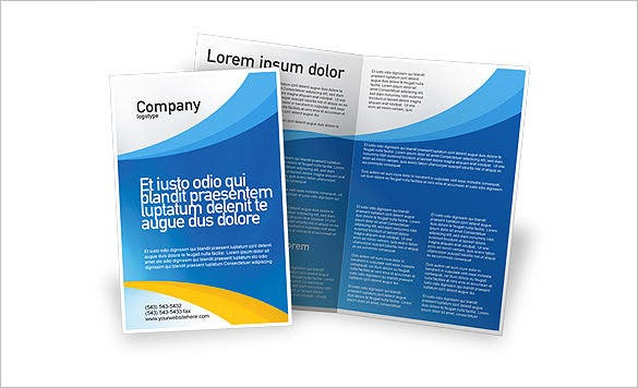 bluish course brochure template