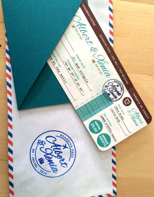 24+ Boarding Pass Invitation Templates - PSD, AI, Vector EPS | Free ...