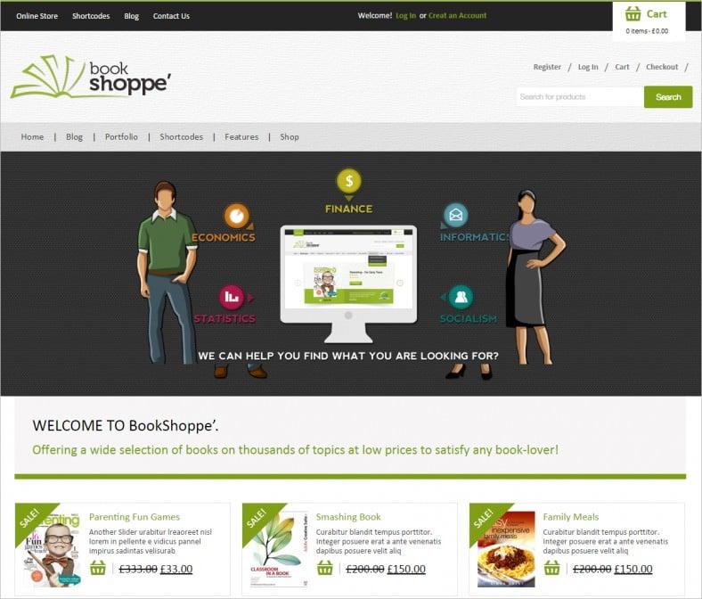 book store responsive woocommerce theme 788x672