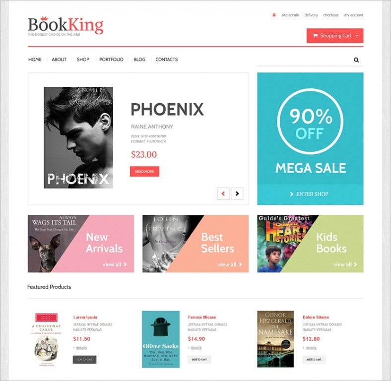 Book store woocommerce themes templates free premium free simple admin panel book store responsive woocommerce theme 114 free demo download pronofoot35fo Choice Image