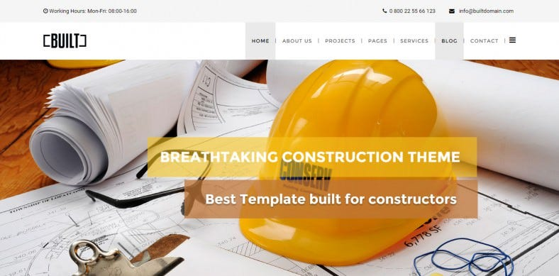 Bootstrap Grid Integrated Construction Business Joomla Theme