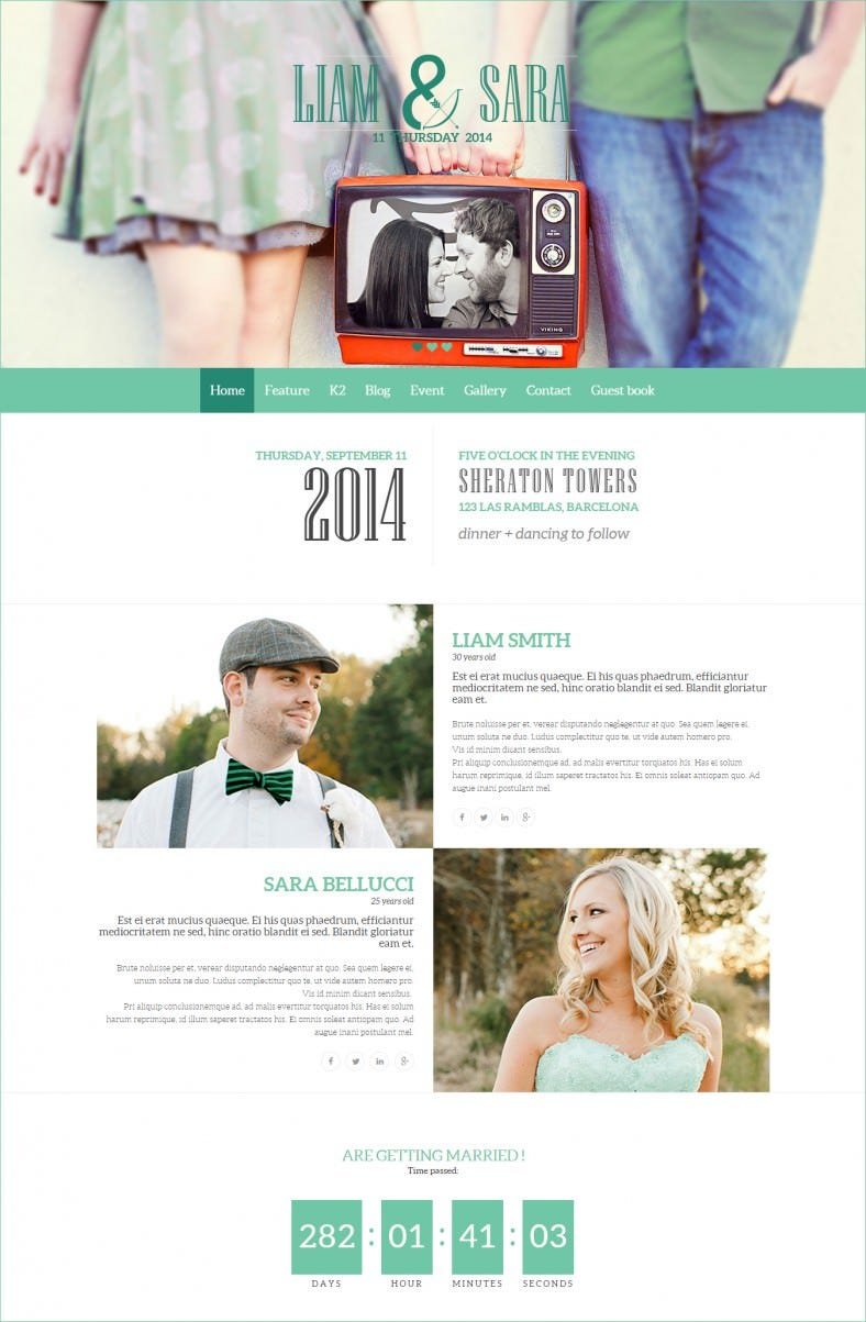 Bootstrap Integrated Wedding Joomla Template
