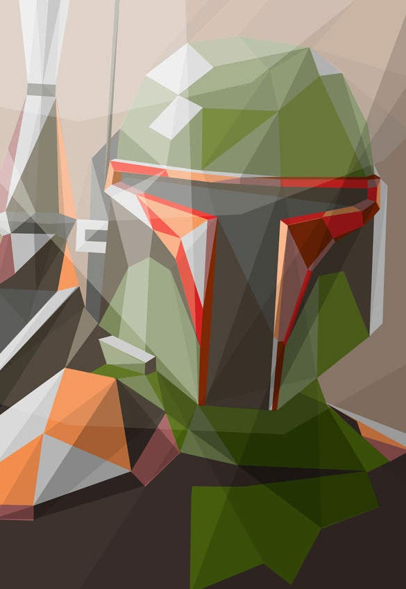 bounty hunter geometric illustration